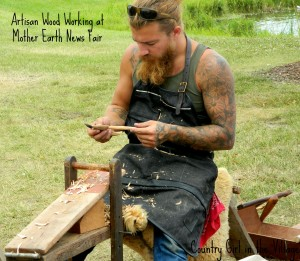 Wood Worker at the Mother Earth News Fair
